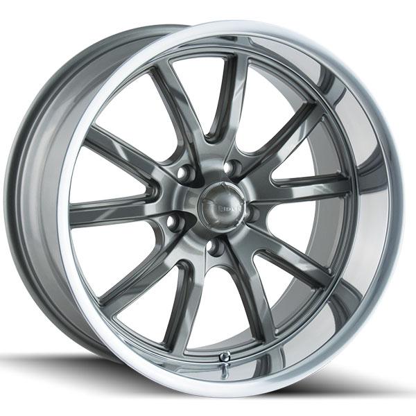 Ridler 650 Grey With Polished Lip Wheels 4wheelonline Com