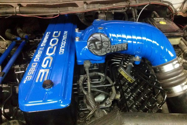 Dodge blue Cold air intake