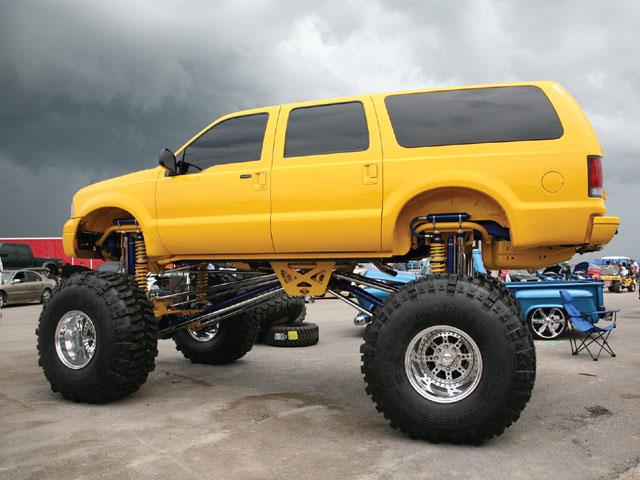 Lift Kits For Chevy Silverado Ford Excursion lifted 6 feet