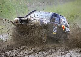 Jeep Cherokee in the dirt