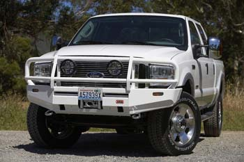 White Ford F-250 with a bullbar