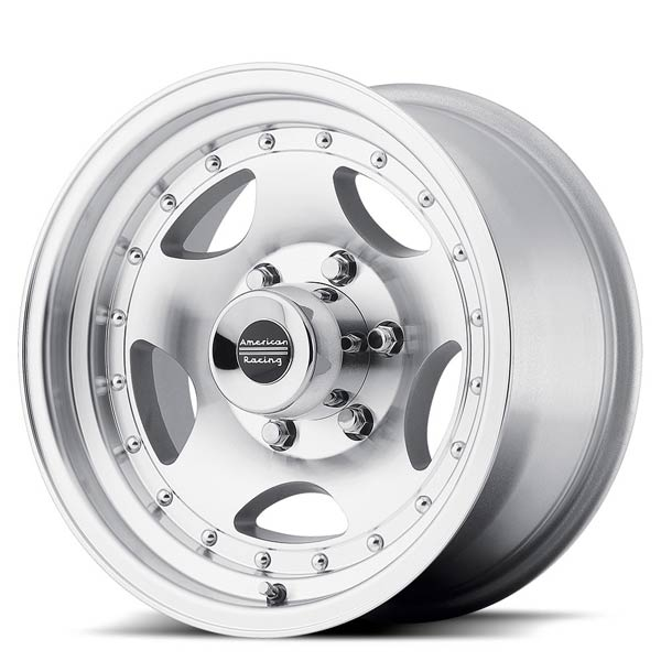 15x7//5x4.5 American Racing Outlaw II AR62 Machined Wheel with Clear Coat
