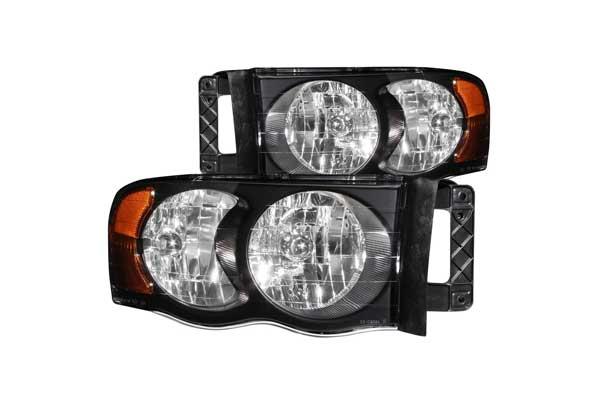 Anzo headlights chevy gmc 4wheelonline dodge ram 1500 02 05 ram 25003500 03 05 crystal headlights black publicscrutiny Image collections