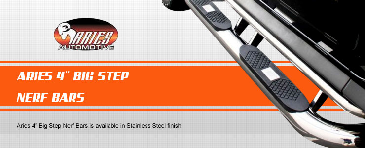 Aries Big Step Nerf Bar have been internationally acclaimed with their outstanding creation since 1997