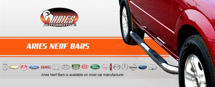 Aries Nerf Bar is available on most vehicle manufacturer