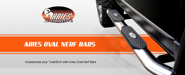 Aries Oval Nerf Bar is totally a protective shield that also serves as an easier tool for passengers to step up and get inside their truck without being so stressful at all