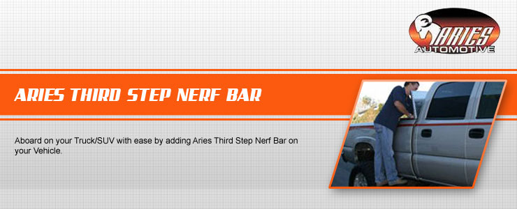Aries Third Step Bar is designed for fast and easy installation