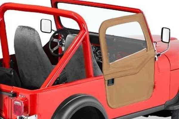 bestop 2 piece full fabric doors for 1980 1995 jeep cj7 wrangler. Black Bedroom Furniture Sets. Home Design Ideas