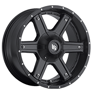 LRG Slant 101 Matte Black Wheels