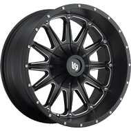 LRG Wheels<br /> 103 Black Milled