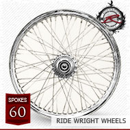 16x3.5 Dual Disc Front Wheel 60 Spoke