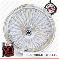 16x3.5 Single Disc Front Wheel FAT 50 Chrome