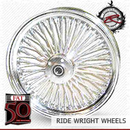 18x3.5 Single Disc Front Wheel FAT 50 Chrome