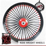 18x3.5 Single Disc Front Wheel FAT 50 Chrome w/ Black Spoke