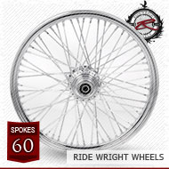 21x3.5 Single Disc Front Wheel 60 Spoke