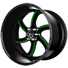 American Force Wheels<br /> NIGHTMARE FP6 Black