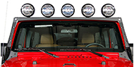 OR-FAB Multi Light Windshield Mounting System, Raw for 07-15 JK Wrangler
