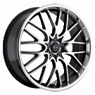 Drifz 302MB Vortex <br />Black / Machined<br /> 5 Lug
