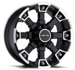 V-TEC Wheels Brutal Matte Black Machined Face