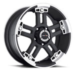 V-TEC Wheels Warlord 394 Black Machined