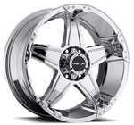 V-TEC Wheels Wizard 395 Chrome