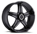 V-TEC Wheels Wizard 395 Black Machined