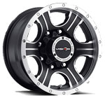 V-TEC Wheels Assassin 396 Black Machined