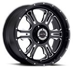 V-TEC Wheels Rage 397 <br />Gloss Black Milled Machined