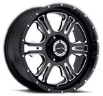 V-TEC Wheels Rage 397 Gloss Black Milled Machined