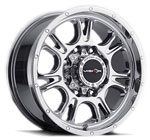 V-TEC Wheels Fury 399 <br />Phantom Chrome