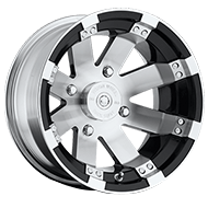 Vision Wheels 158 Buckshot </br>Gloss Black Machined Face & Lip