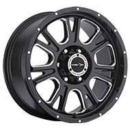 Vision Wheels 399 Fury </br>Gloss Black Milled Spoke