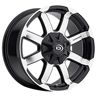 Vision Wheels 413 Valor </br>Gloss Black Machined Face