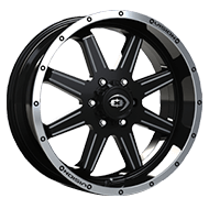 Vision Wheels 421 Cannibal </br>Gloss Black Machined Lip Milled Spoke