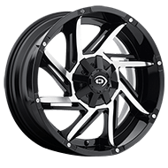Vision Wheels 422 Prowler </br>Gloss Black Machined Face