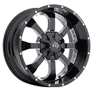 Vision Offroad 420 Locker <br>Gloss Black Milled Spoke