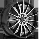 Focal Wheels<br /> 442U F-15 Gloss Blk w/ Diamond Cut Face & Clear-Coat