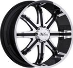 Milanni Wheels Kool Whip 8 Black Machined
