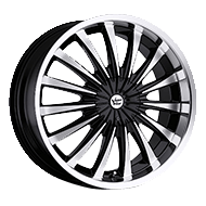Vision Wheels <br>Shattered Gloss Black