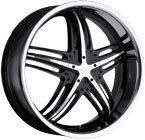 Milanni Wheels Force Black Machined