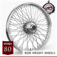 18x3.5 Dual Disc Front Wheel 80 Spoke