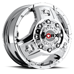 WORX Wheels Dually Triad 801 Front Chrome