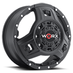 WORX Wheels Triad 801 Dually Front Black
