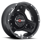 WORX Wheels Triad 801 Dually Rear Black
