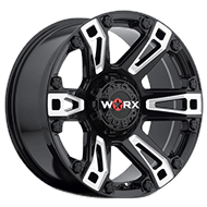 WORX Wheels Beast 803 <br/>Black Machined