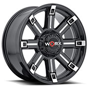 WORX Wheels Triton 806 <br/>Black Milled