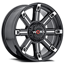 WORX Wheels Triton 806 <br/>BlackMilled