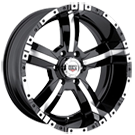 KO Offroad<br /> 813 50 Cal Black Machined<br /> 5 Lug