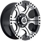 KO Offroad<br /> 824 Shooter Black Machined<br /> 5 Lug