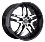 Prado Wheels Dante 901 Gloss Black Machined Face